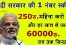 खुशखबरी: मोदी सरकार की इस जबरदस्त स्कीम से आपको हर साल होगा 60 हजार रुपए तक का लाभ