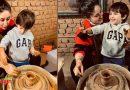 प्रेगनेंसी पीरियड में बेटे तैमूर संग छुट्टियां बिता रही हैं करीना कपूर, मिट्टी के बर्तन बनाते हुए तस्वीरें हुई वायरल